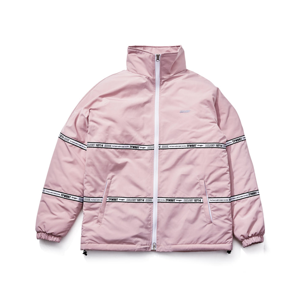 BSRABBIT TIDY HN STADIUM JACKET INDYPINK