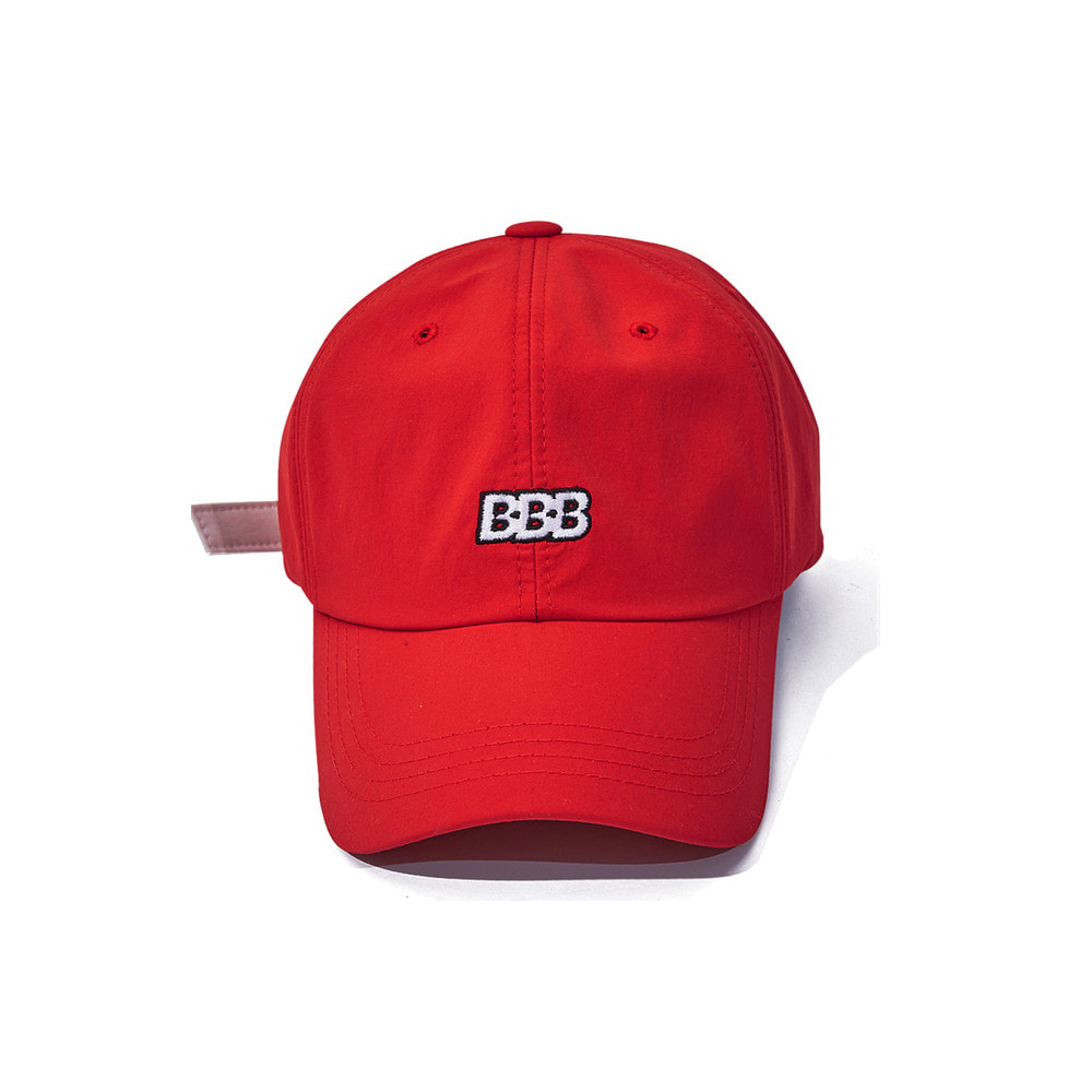 BSRABBIT BBB NYLON STRAPBACK RED