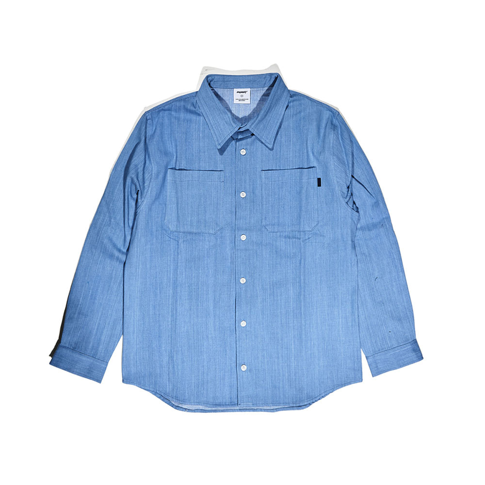 BSRABBIT BSR CLASSIC CHECK SHIRT DENIM
