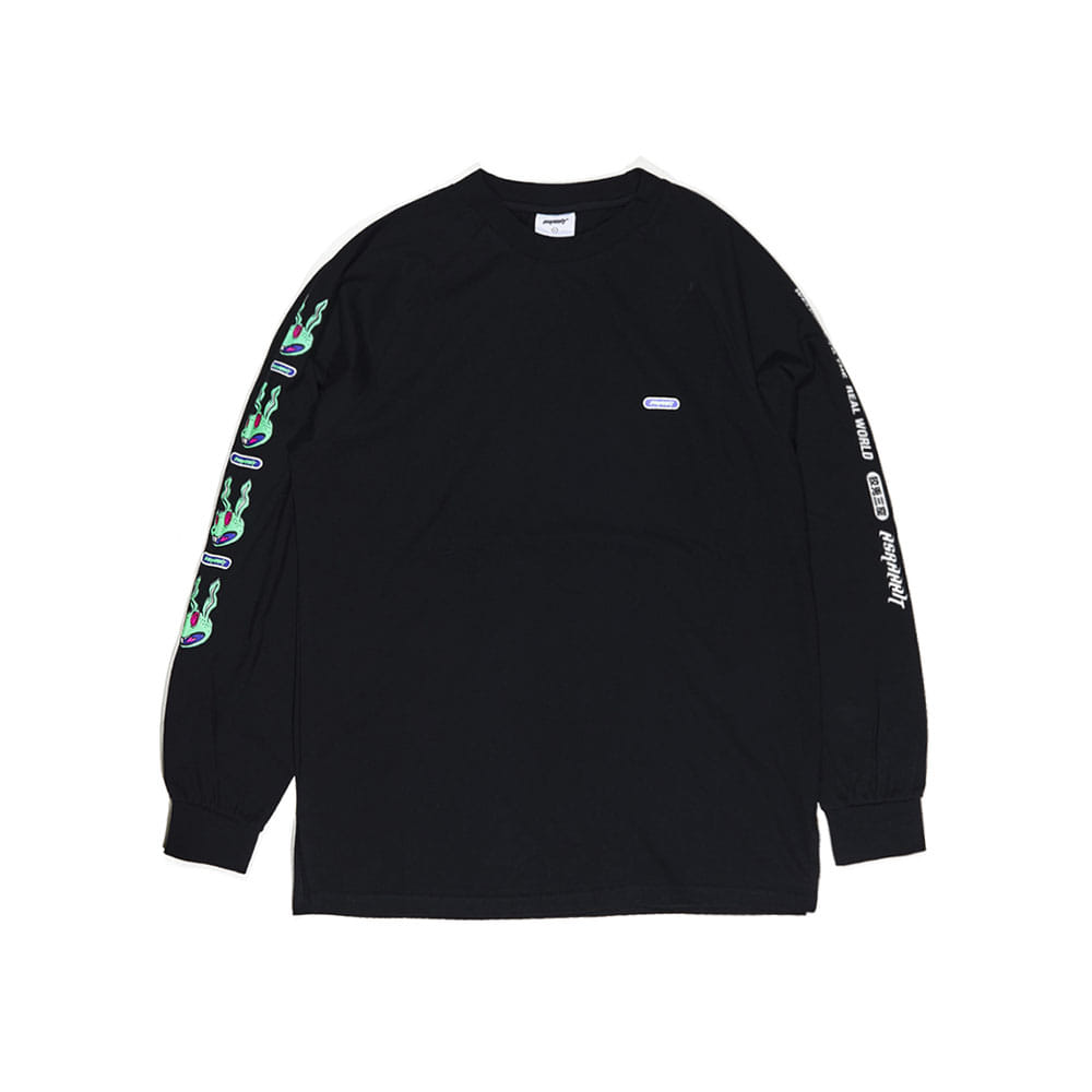 BSRABBIT REGR LONG SLEEVE BLACK