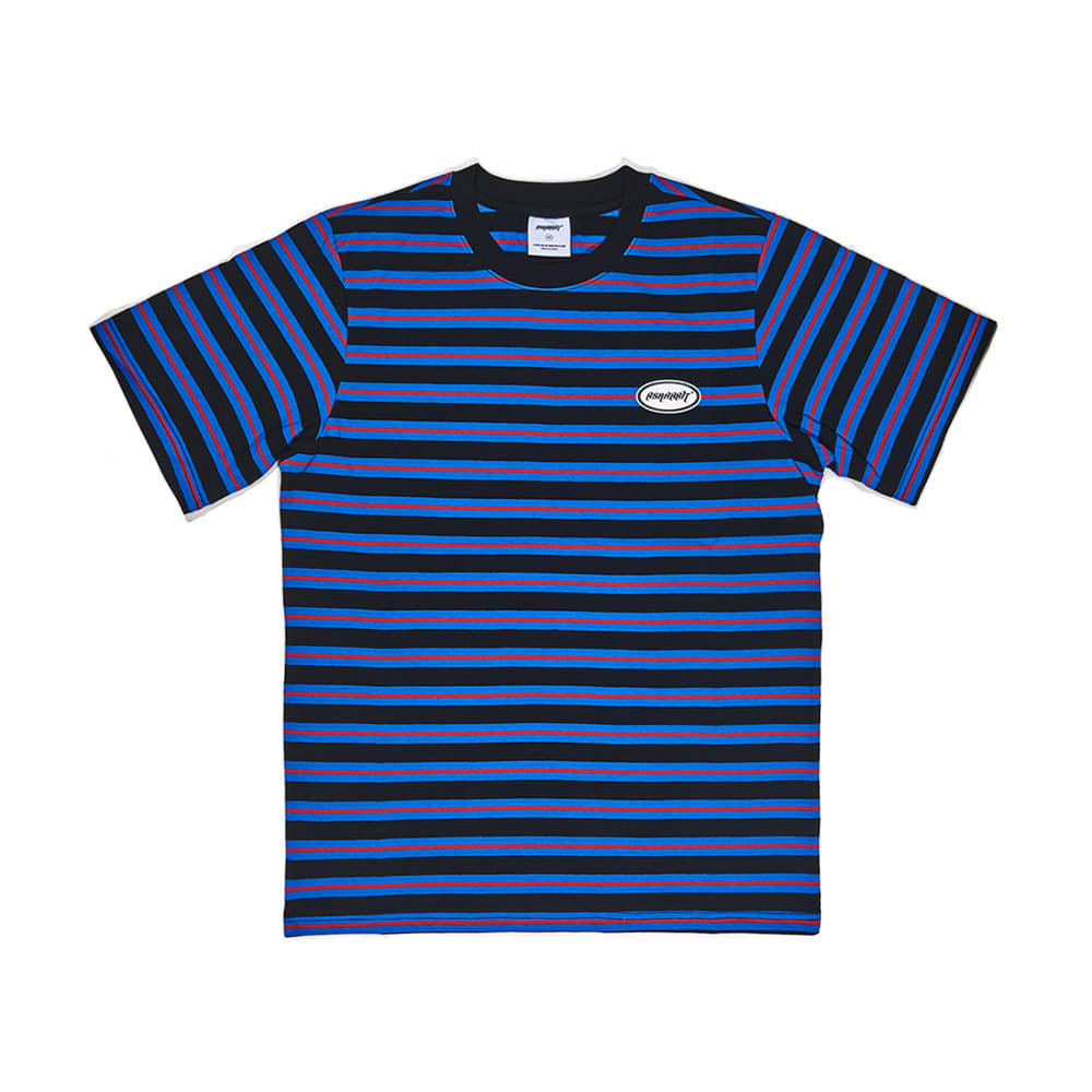 THE BSR T-SHIRT STRIPE BLACK