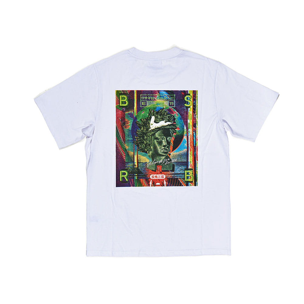 BSRABBIT WORK T-SHIRT WHITE