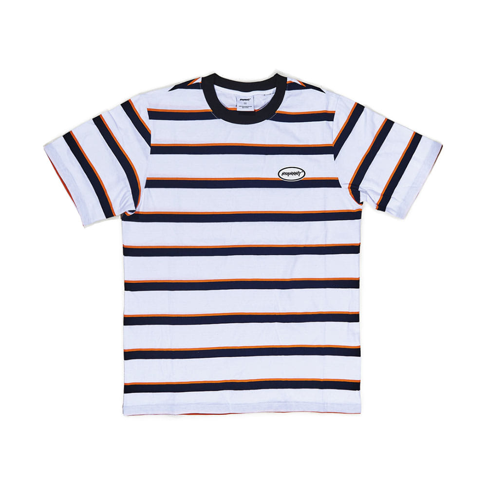 THE BSR T-SHIRT STRIPE WHITE