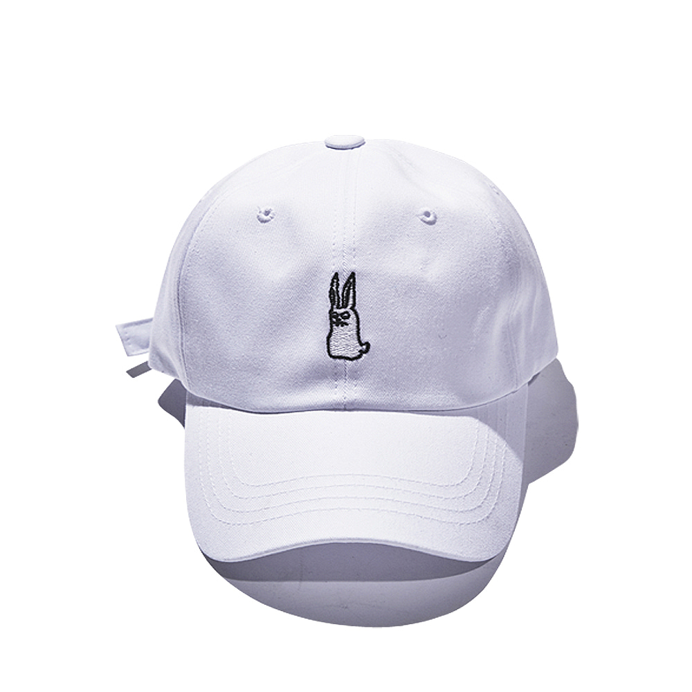 BSRABBIT GR OPEN ZIPPER CAP WHITE
