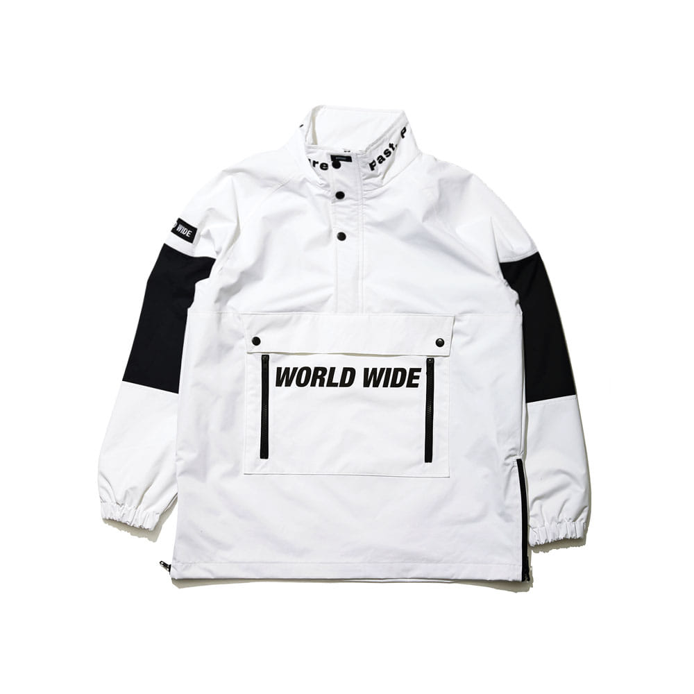 BSRABBIT BSR WORLD WIDE ANORAK JACKET WHITE