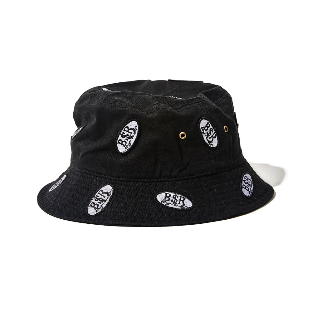BSRABBIT BSR WAPPEN BUCKET HAT BLACK