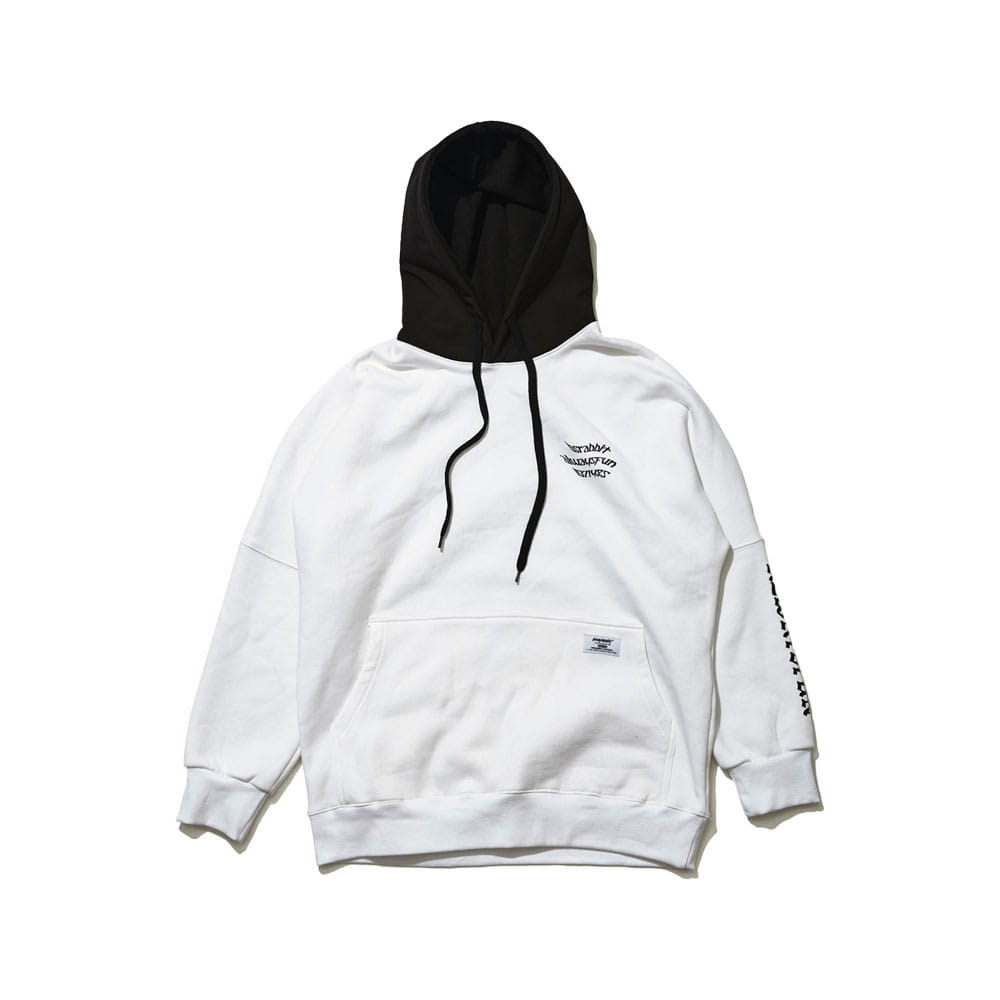 BSRABBIT WELCOME WATERPROOF HOODIE WHITE
