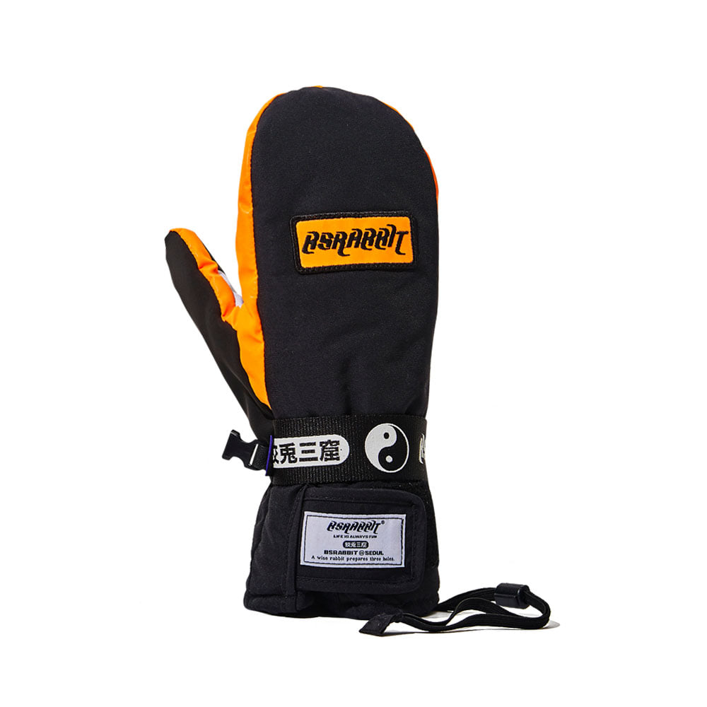 BSRABBIT LOGO SO SNOWBOARD GLOVE BLACK