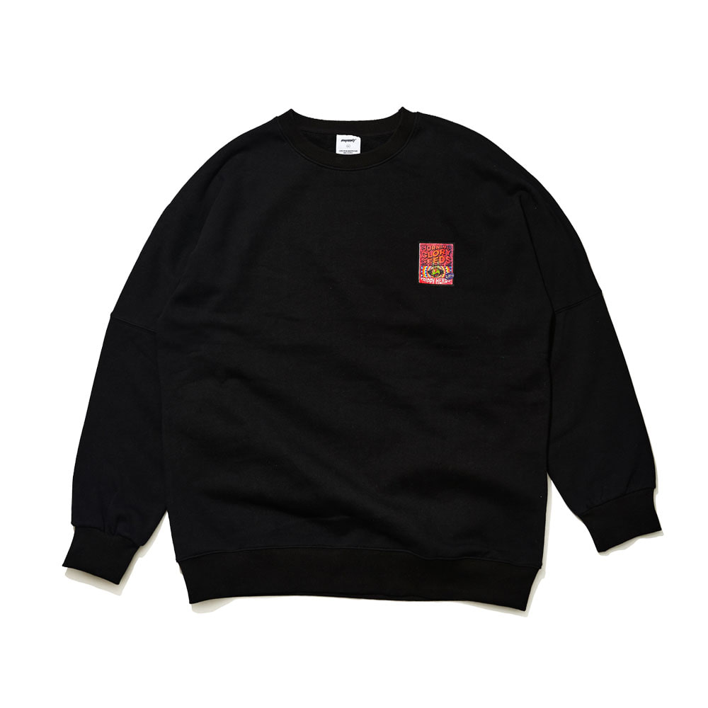 BSRABBIT RED EYES CREWNECK BLACK