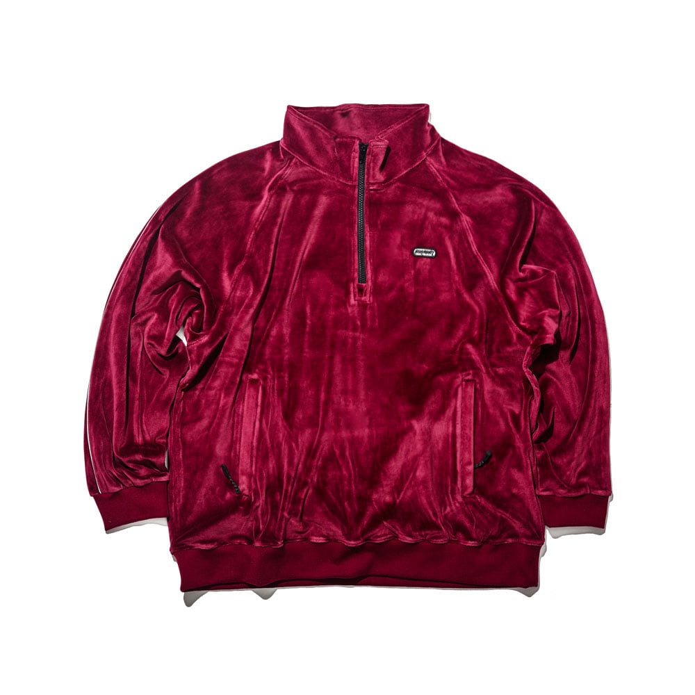 BSRABBIT BSR VELOUR TRACK TOP BURGUNDY