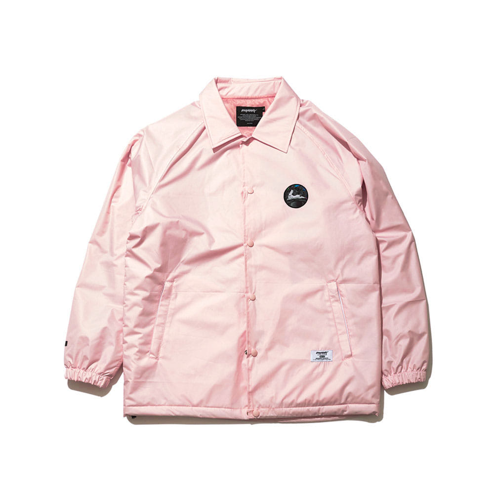 BSRABBIT BSR WARM COACH JACKET INDY PINK