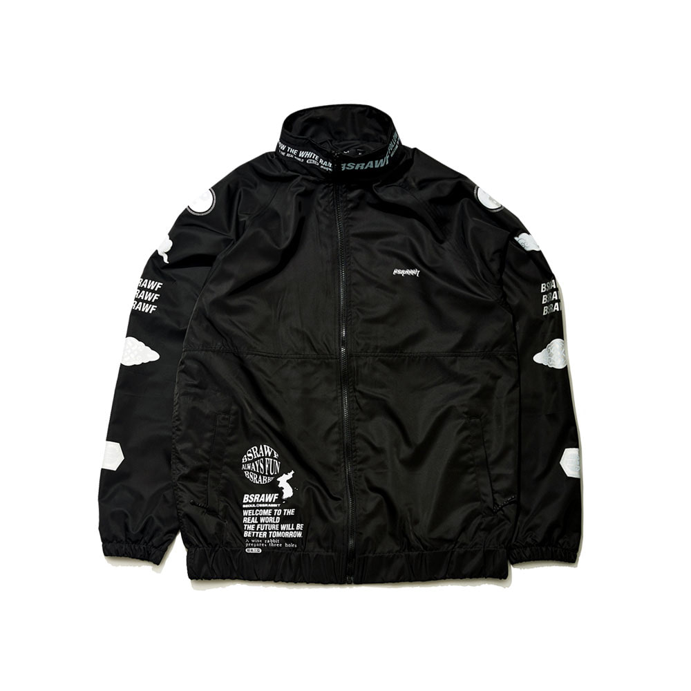 BSRABBIT BSR KOR TRACK JACKET BLACK