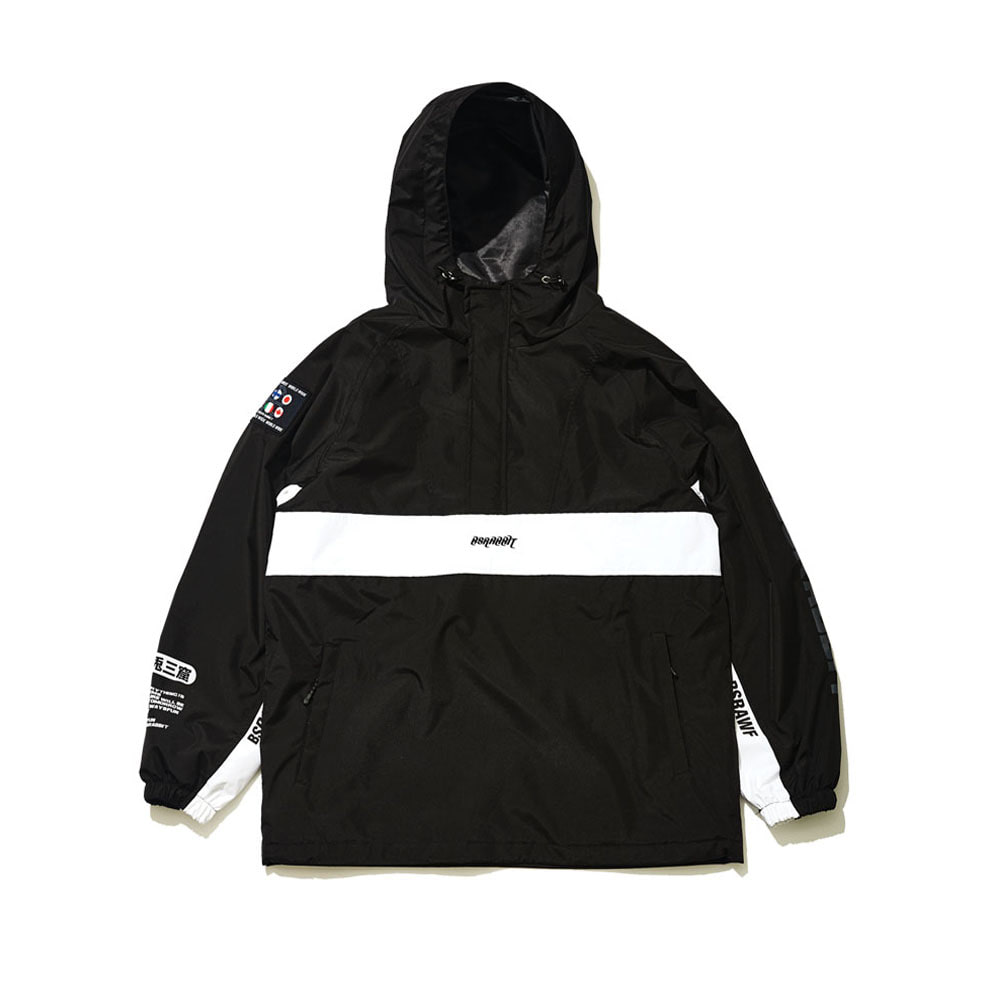BSRABBIT BSR RUN ANORAK BLACK