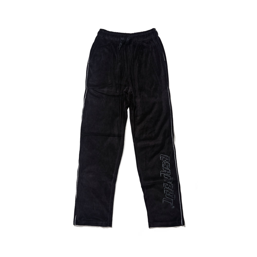 BSRABBIT BSR VELOUR TRACK PANTS BLACK