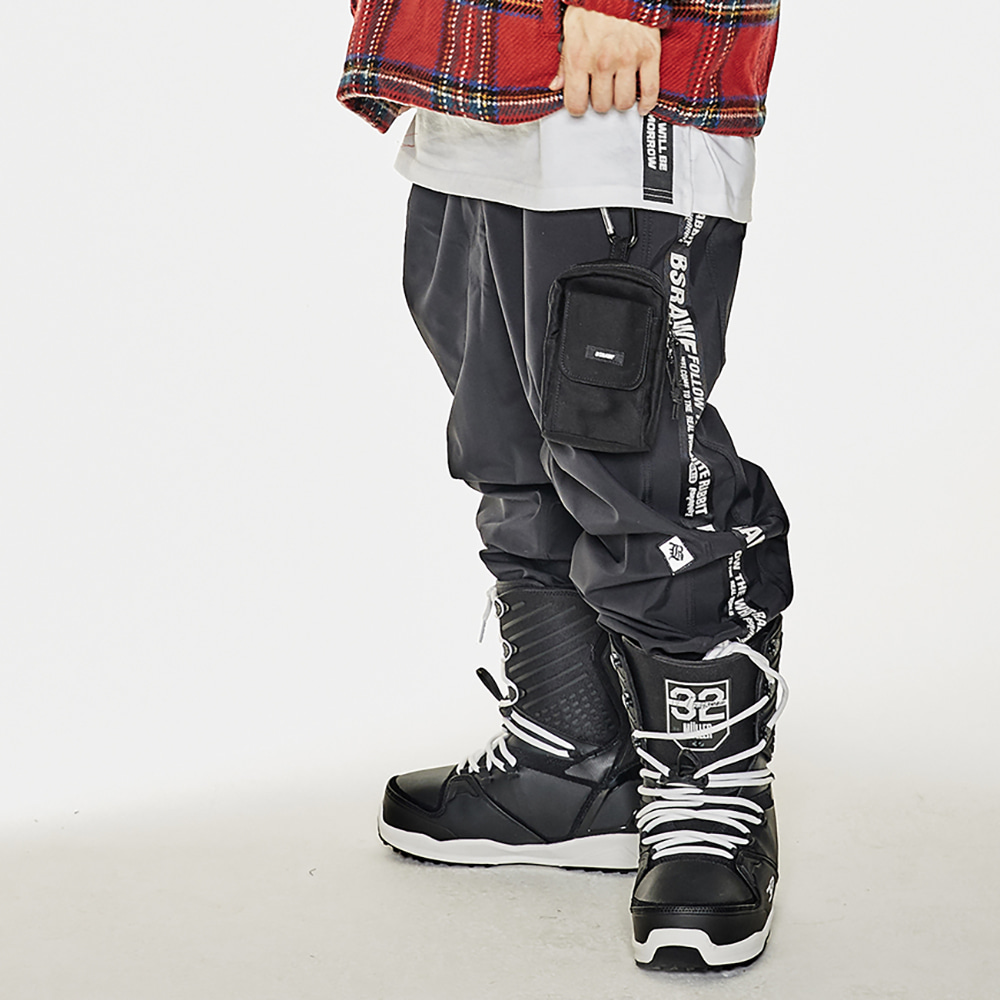 BSRABBIT TAPE SP JOGGER PANTS BLACK