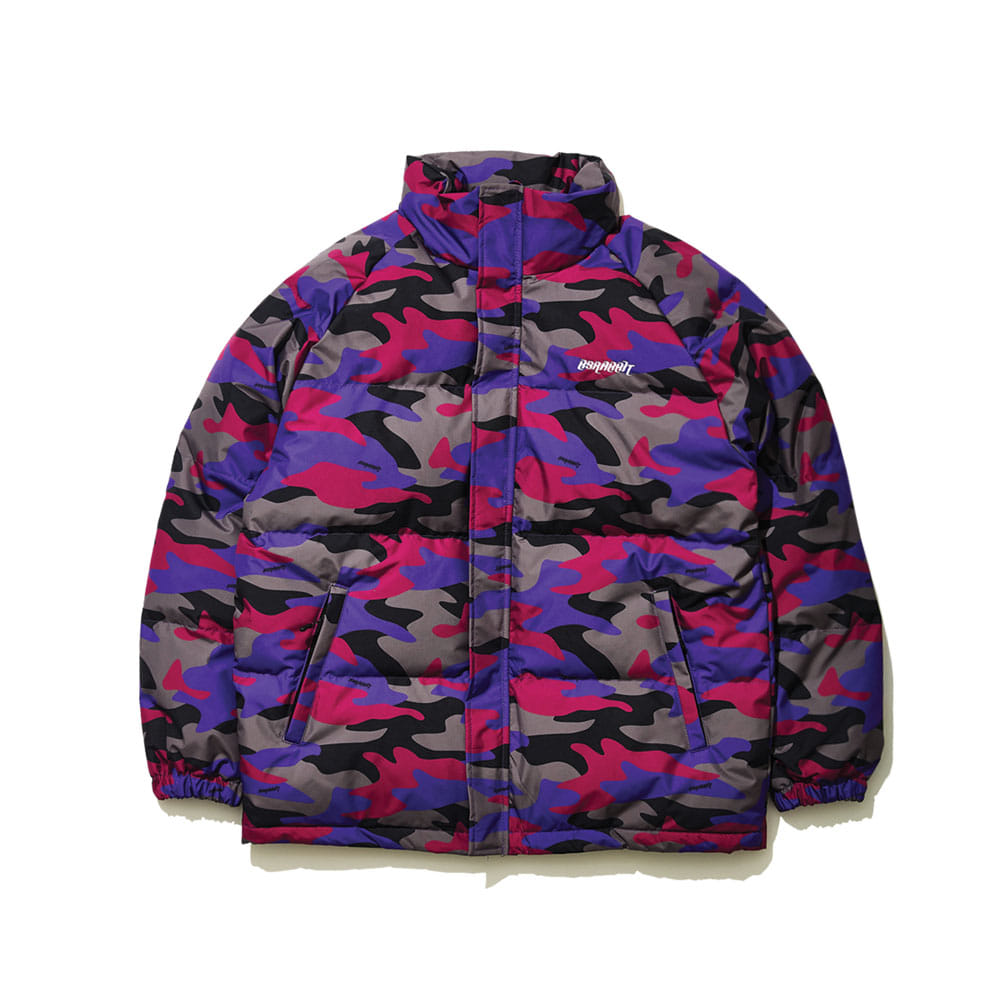 BSRABBIT BSR DUCK DOWN PARKA PURPLE CAMO
