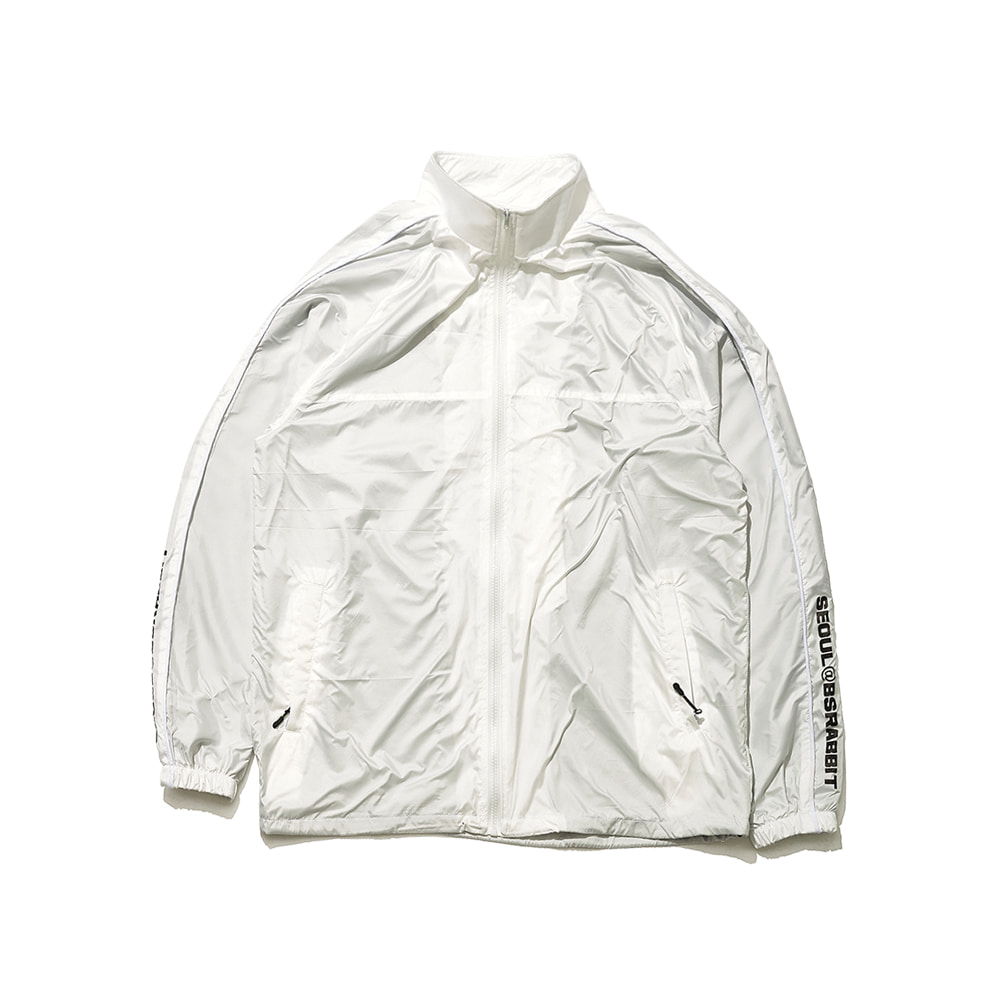 BSRABBIT BSR LIGHT TRACK JACKET WHITE