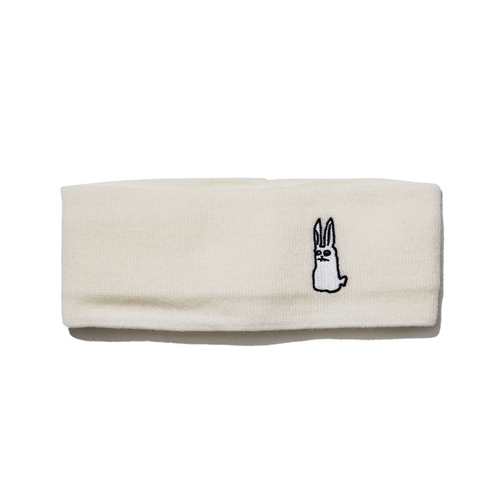BSRABBIT GR KNIT HEADBAND WHITE
