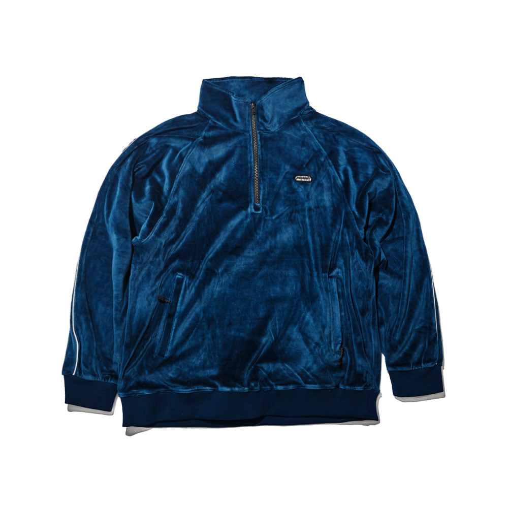BSRABBIT BSR VELOUR TRACK TOP NAVY