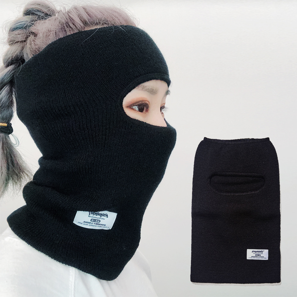 BSRABBIT BSRABBIT OPEN FACE MASK BLACK