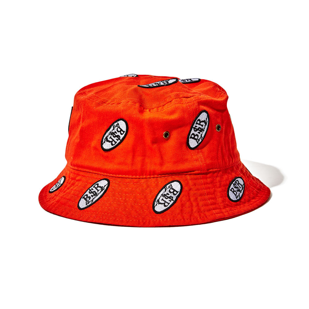 BSRABBIT BSR WAPPEN BUCKET HAT ORANGE