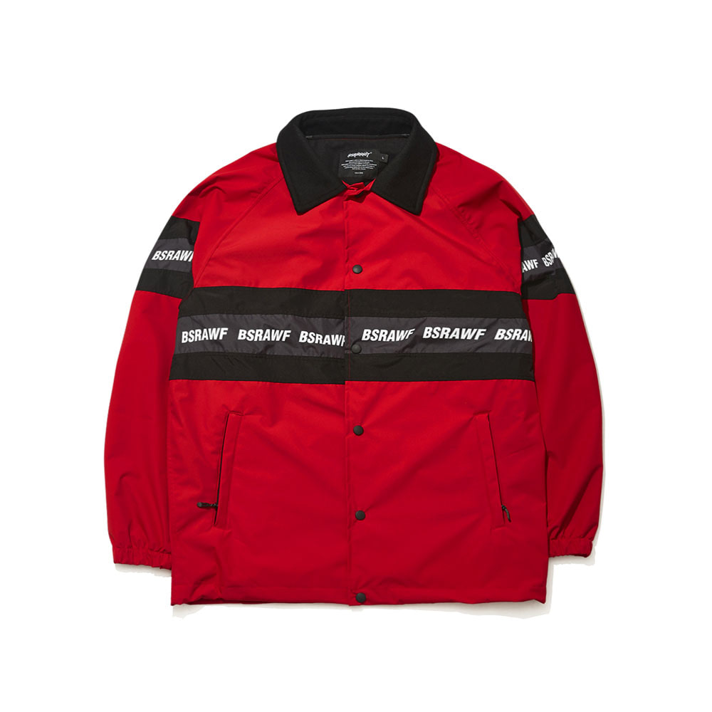BSRABBIT BSRAWF LINE COACH JACKET RED
