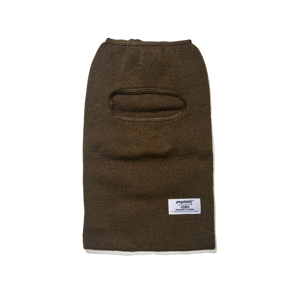 BSRABBIT BSRABBIT OPEN FACE MASK KHAKI