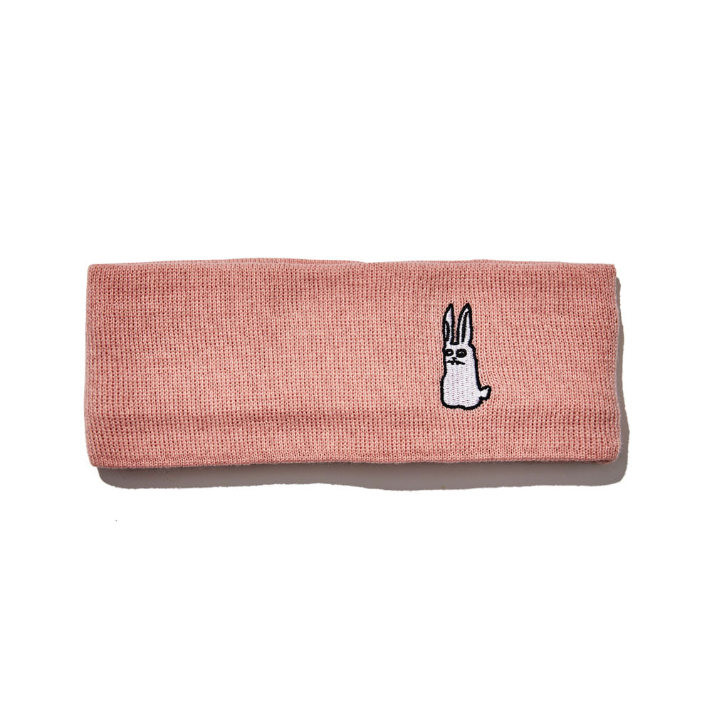 BSRABBIT GR KNIT HEADBAND PINK