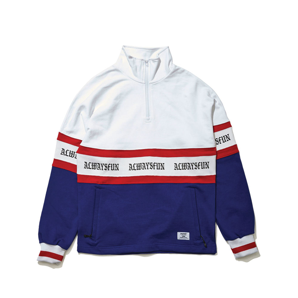 BSRABBIT AWF HN ZIPUP PULLOVER WHITE