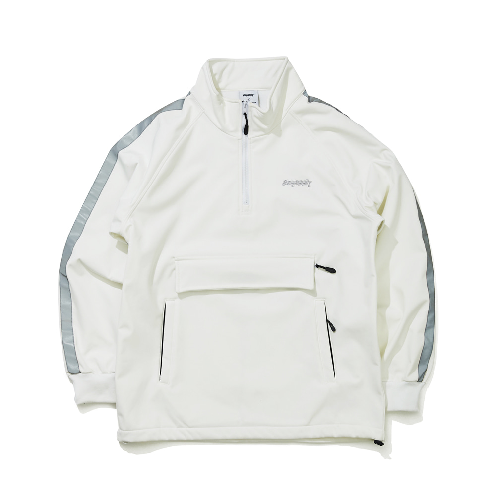 BSRABBIT WATERPROOF LOGO HN ZIPUP WHITE