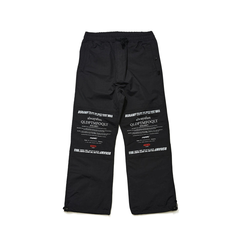 BSRABBIT BSR WORK TRACK PANTS BLACK