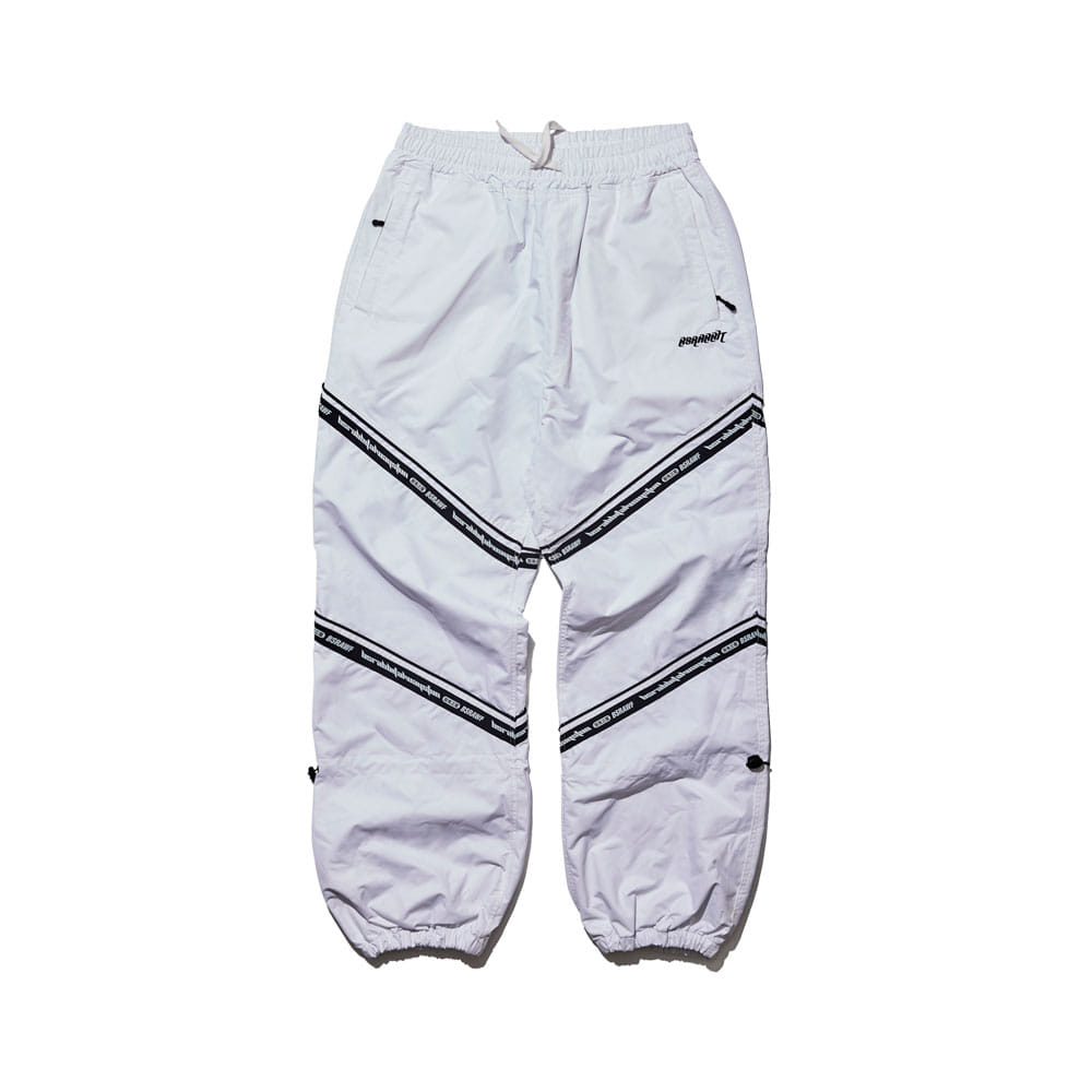 BSRABBIT BSR TRANSFORM BOX MULTI JOGGER PANTS LINE WHITE