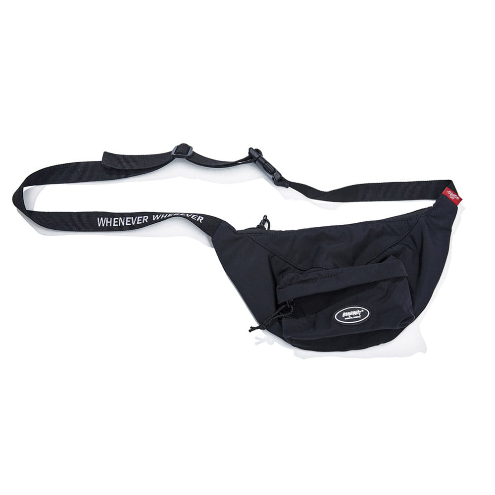 BSRABBIT LOGO POCKET WAIST BAG BLACK