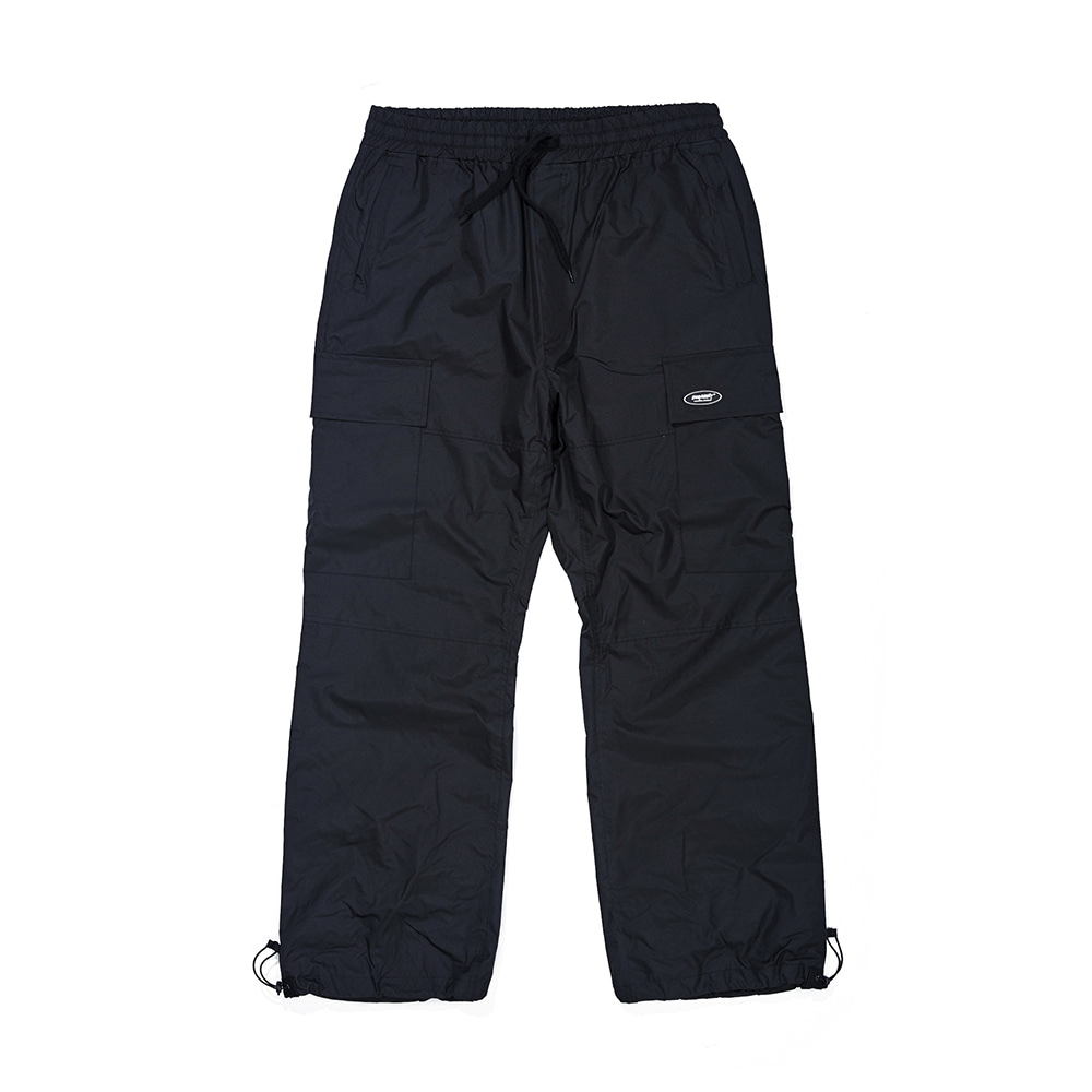 자체브랜드 BIG CARGO POCKET TRACK PANTS BLACK
