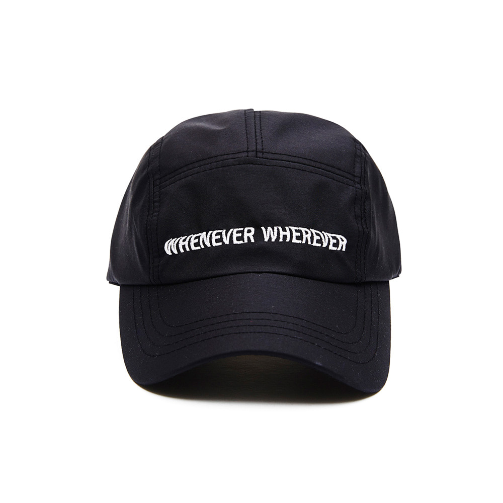 자체브랜드 WEWE 5 PANNEL CAMP CAP BLACK