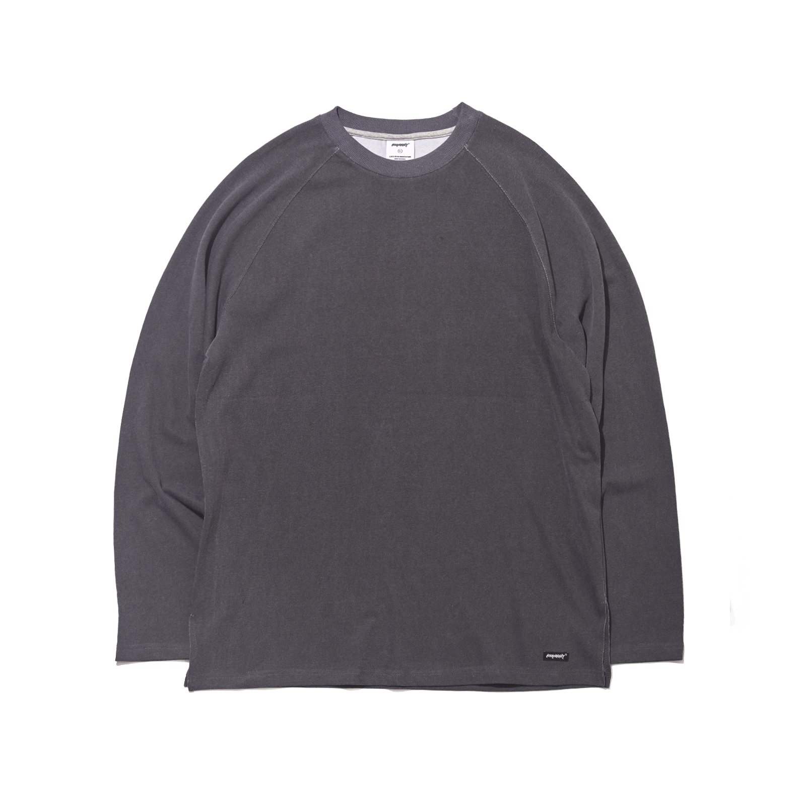 자체브랜드 LOGO LAYERED LONG SLEEVE  TEE BLACK