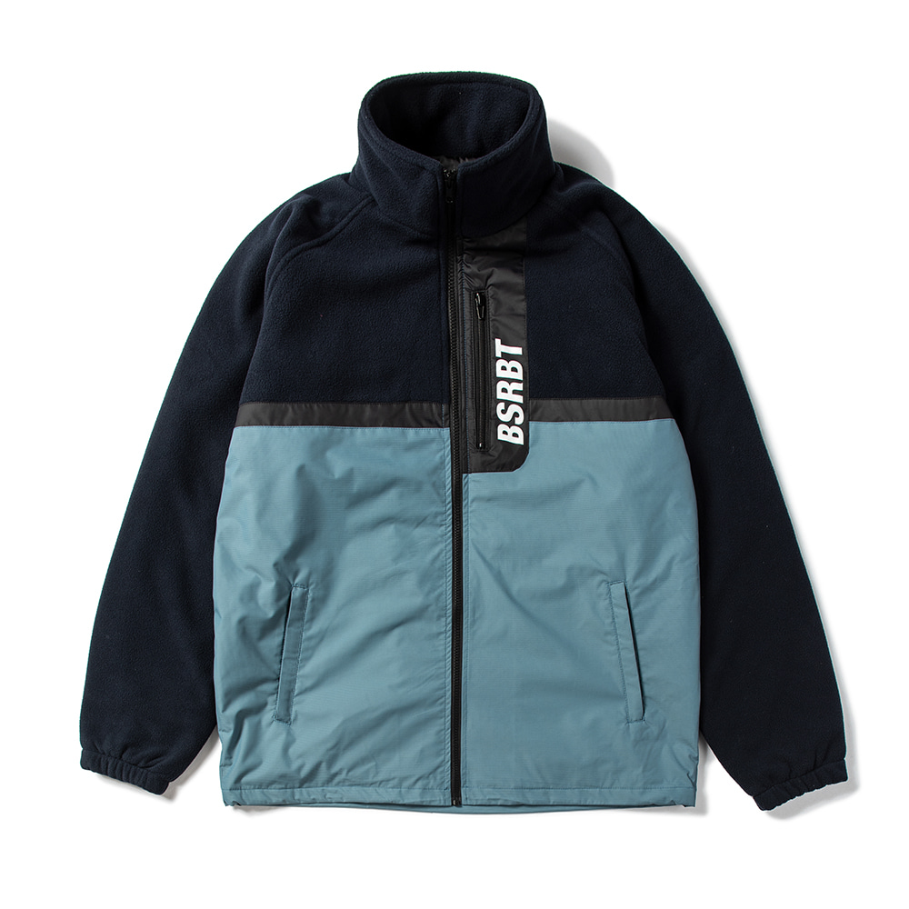 자체브랜드 HALF FLEECE JACKET NAVY