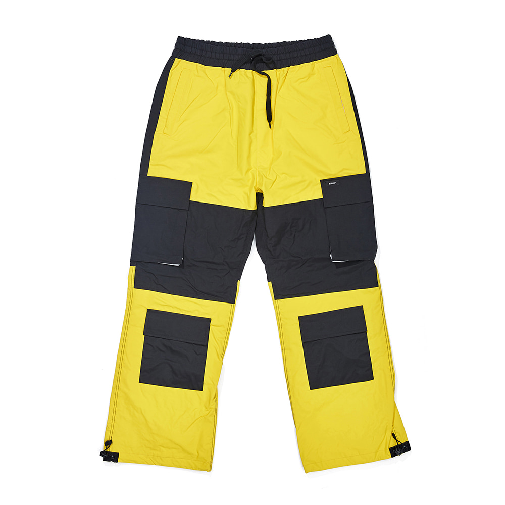 자체브랜드 CARGO POCKET BOX TRACK PANTS YELLOW