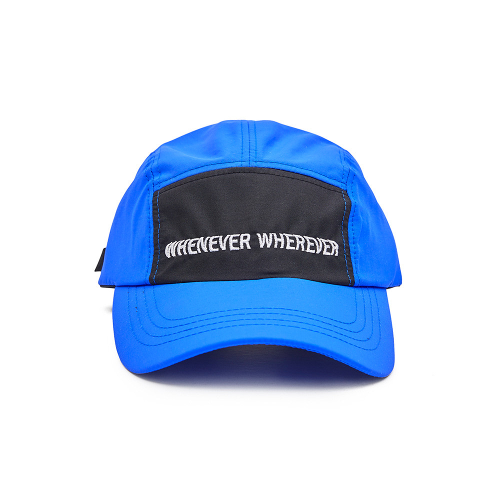 자체브랜드 WEWE 5 PANNEL CAMP CAP BLUE