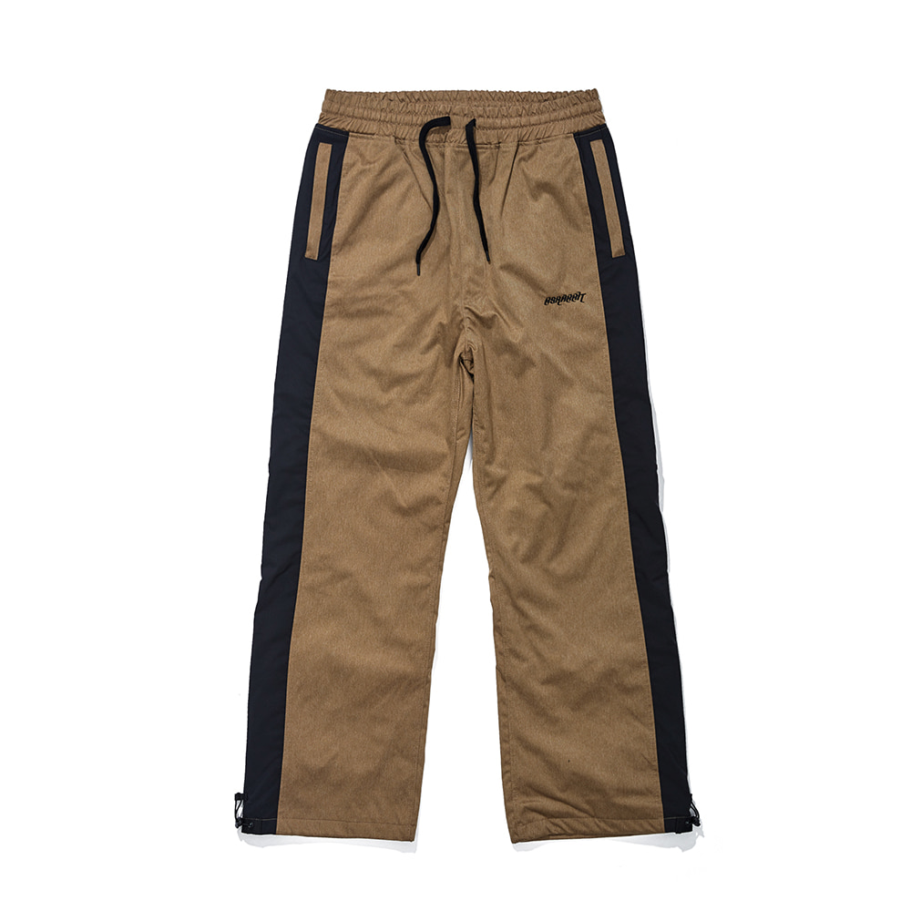 자체브랜드 DENIM LINE TRACK PANTS BROWN