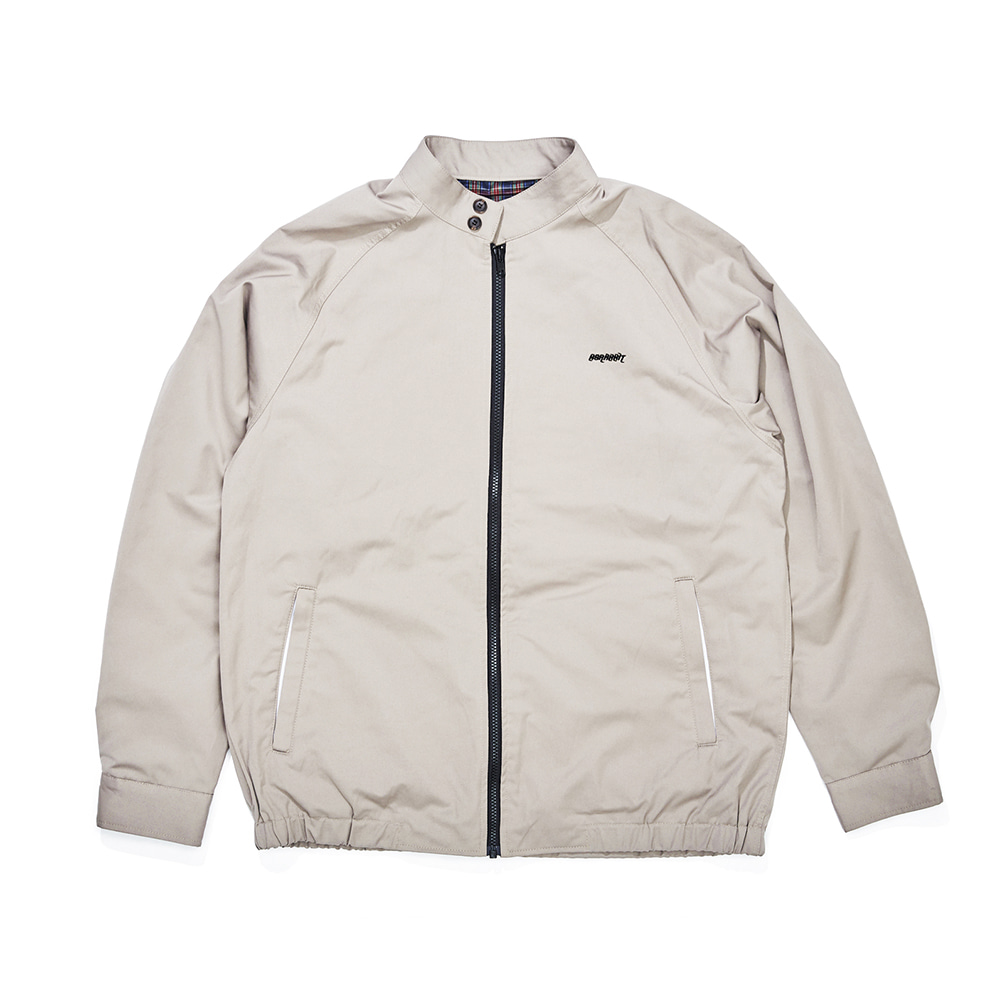 자체브랜드 OG LOGO HARRINGTON JACKET SAND