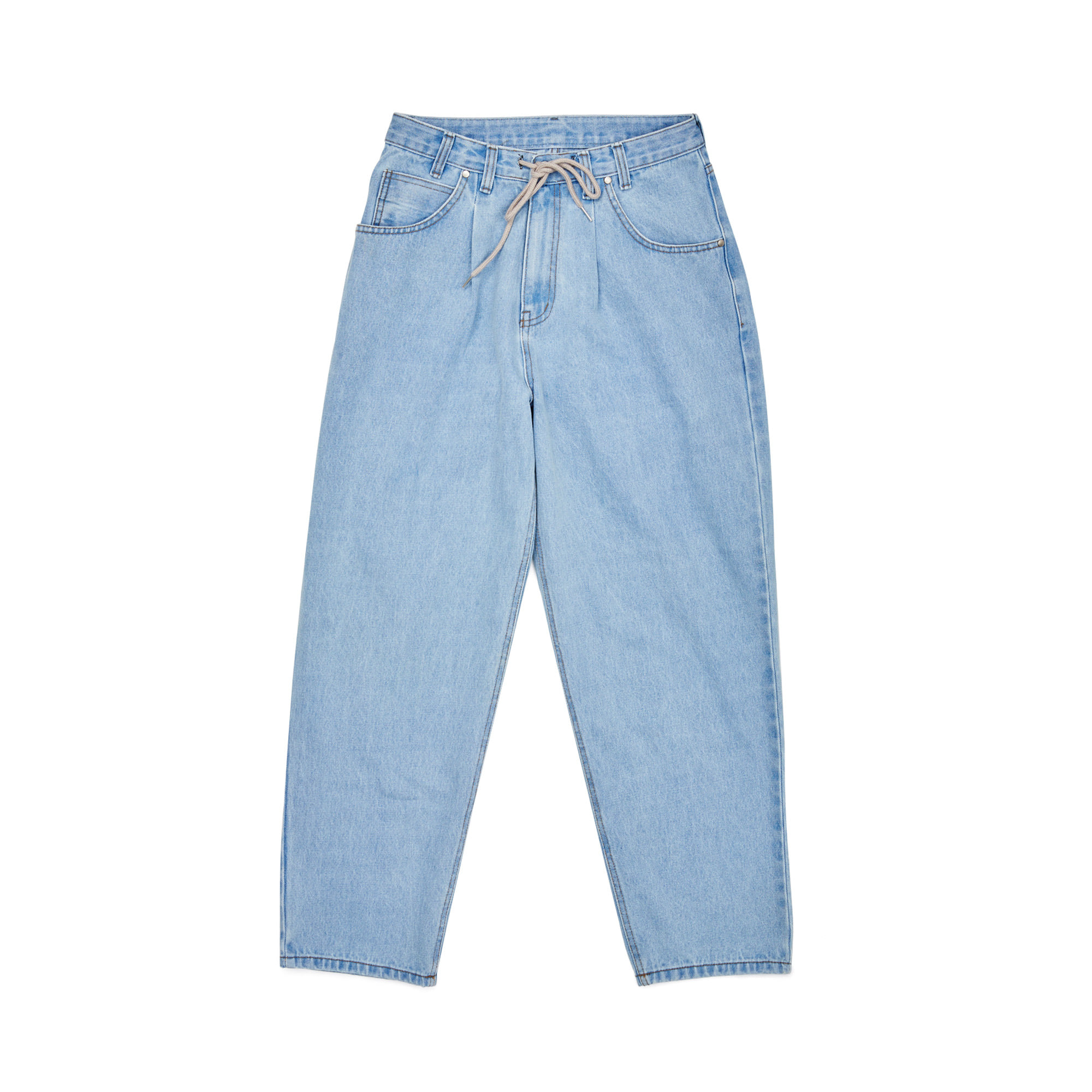 자체브랜드 BS MID90S LOOSE FIT BAGGY DENIM PANTS LIGHTBLUE