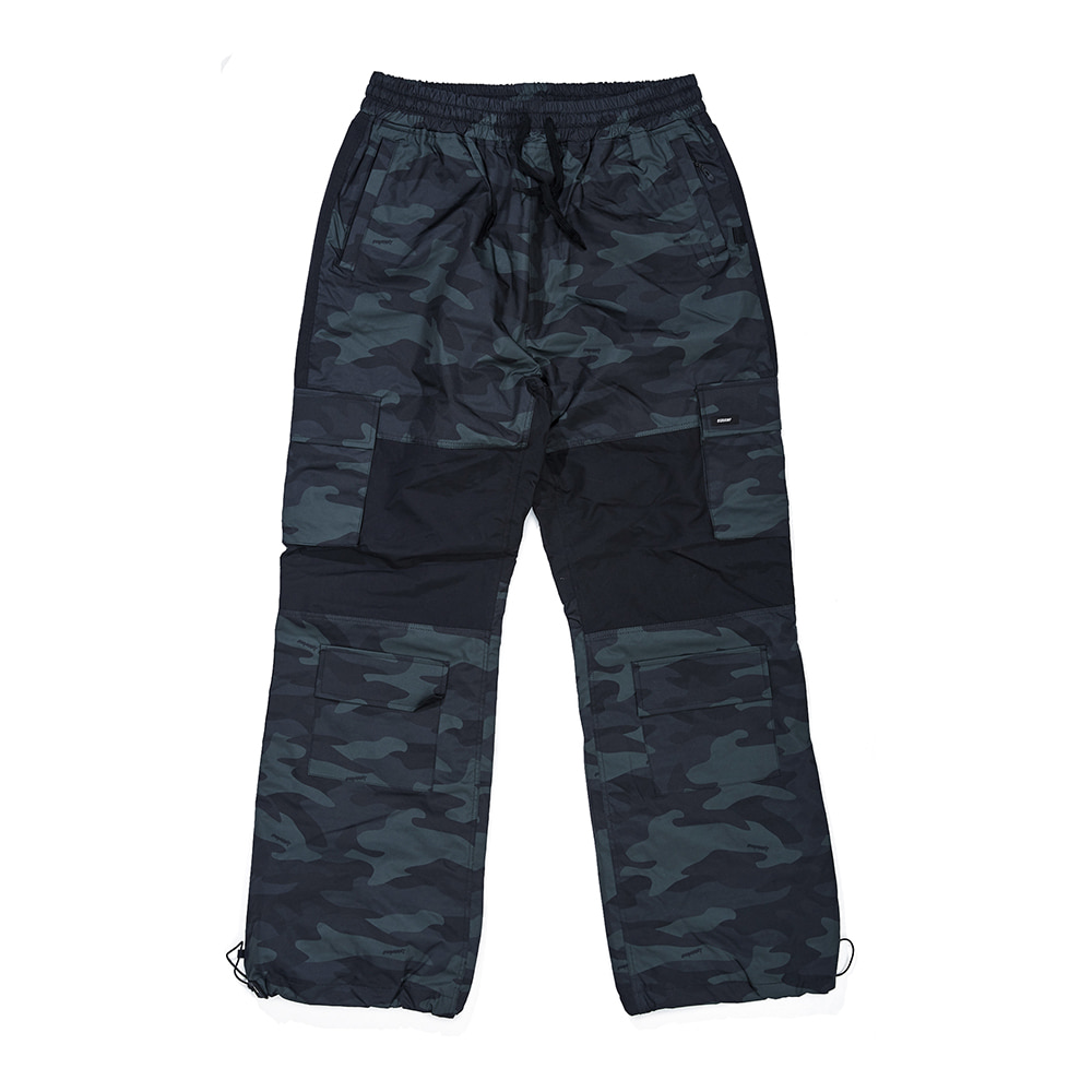 자체브랜드 CARGO POCKET BOX TRACK PANTS GREEN CAMO