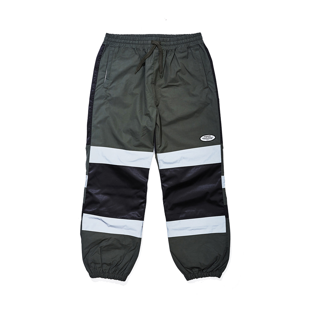 자체브랜드 BOX DOUBLE LINE REFLECTIVE JOGGER PANTS KHAKI