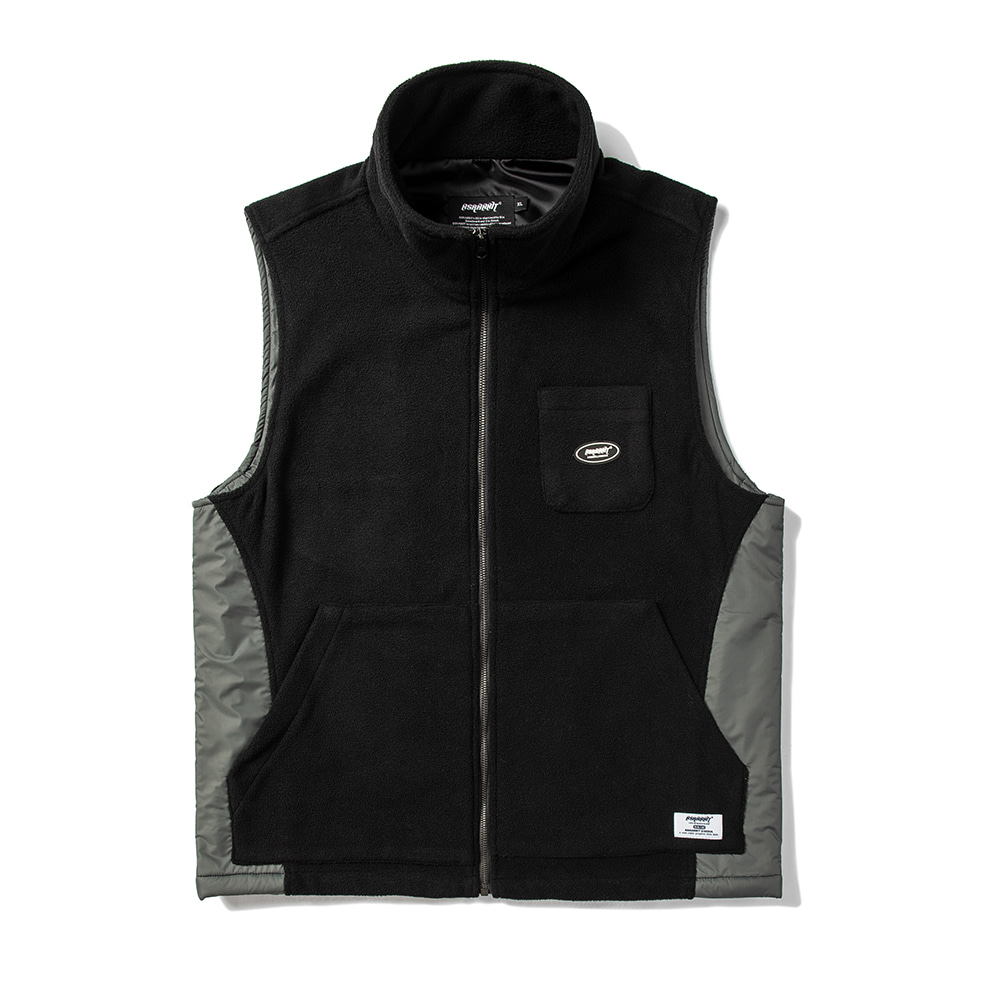 자체브랜드 B714 FLEECE VEST BLACK