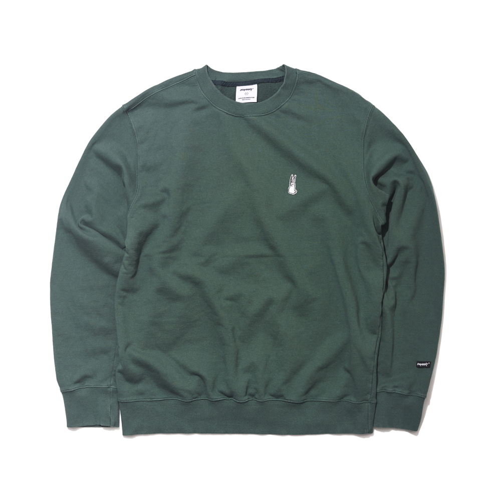 자체브랜드 GR WELCOME DRY SWEAT SHIRT GREEN