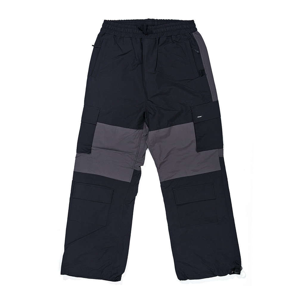자체브랜드 CARGO POCKET BOX TRACK PANTS BLACK