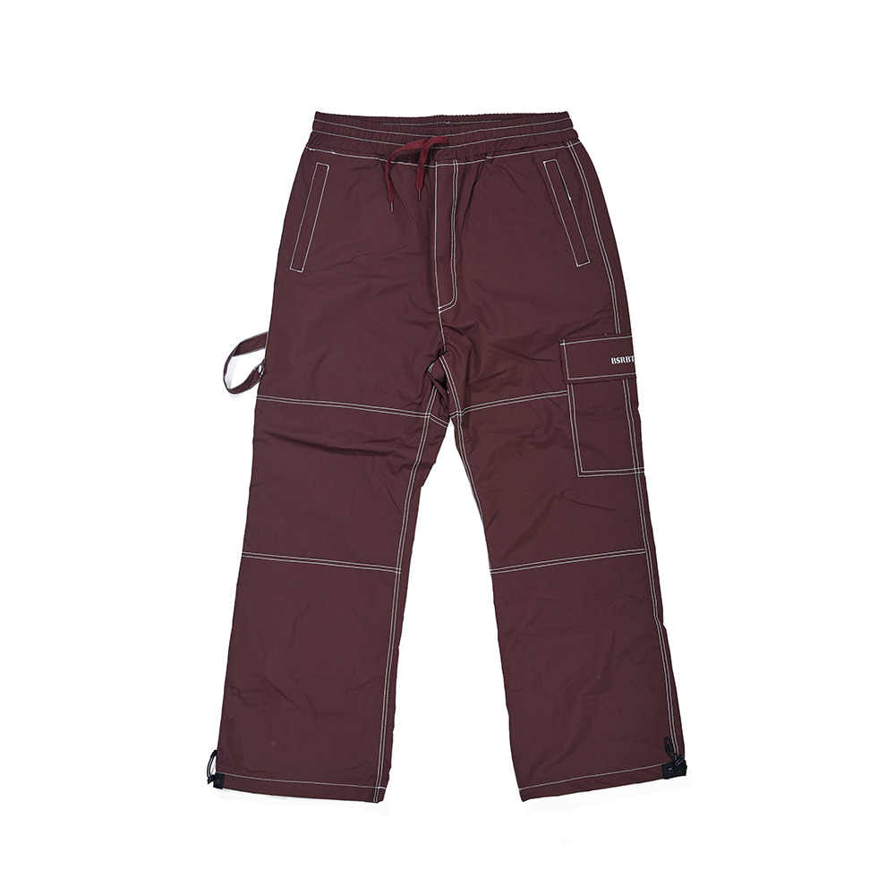 자체브랜드 STITCH ONE POCKET TRACK PANTS BURGUNDY