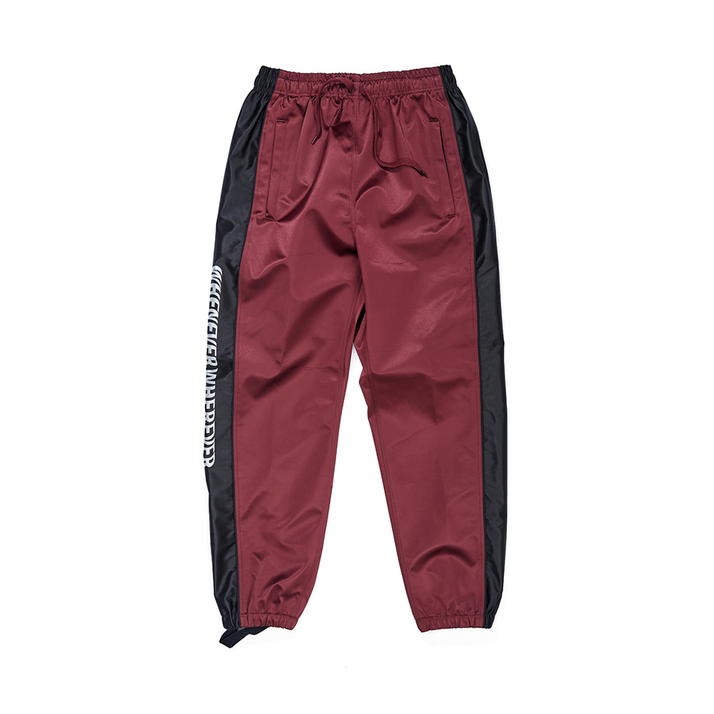 자체브랜드 WW SHINE JOGGER PANTS BURGUNDY