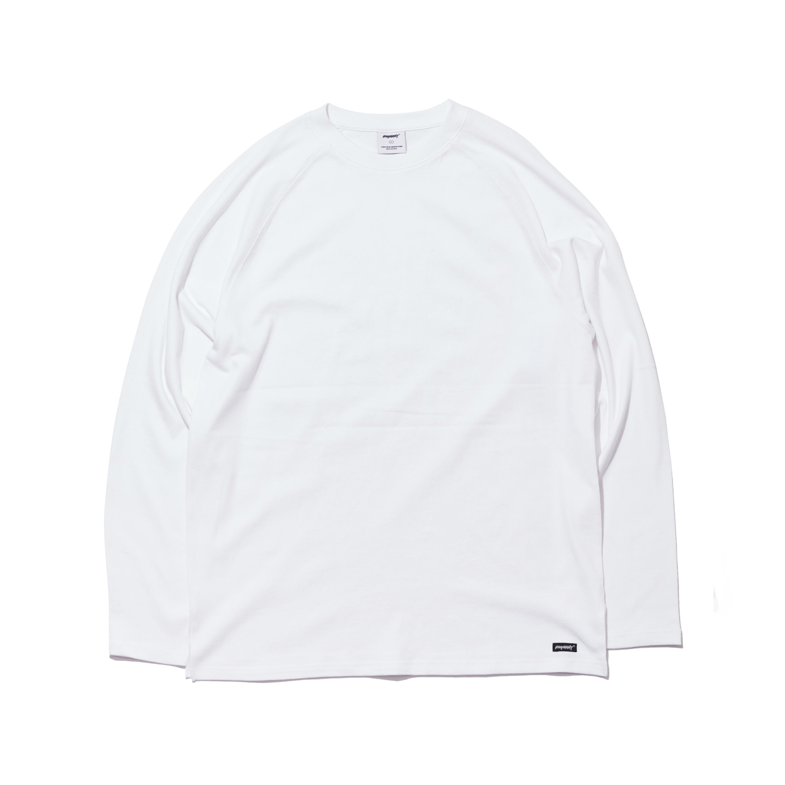 자체브랜드 LOGO LAYERED LONG SLEEVE  TEE WHITE